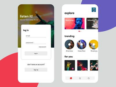 Online Music Streaming App streamer chittagong minimalistic redesign listen music music app music player streaming app clean ui spotify online music online music stream
