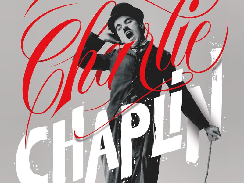 Chaplin poster cinema typography calligraphy lettering poster chaplin