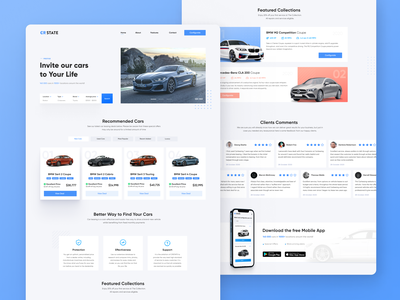 Car Lease Landing Page mobile app app design ecommerce service uxdesign uxui onepage rental app taxi car app webdesign filters cards ui uidesign landing page leasing rent car