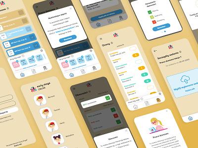 Online Language School App student learning platform study education app ux ui app lessons homework schedule online course school app teaching learning app