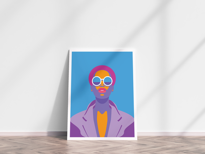 Glasses woman woman illustration vector yellow wacom poster design poster poland pink girl illustration grafitova glasses design character design character blue adobe photoshop adobe illustrator adobe