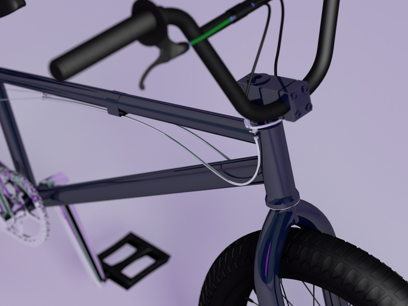 Bike in studio motiongraphics photography cinema4d ambient occlusion 3d