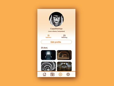 Design challenge - User profile app profile user profile adobe xd design challenge