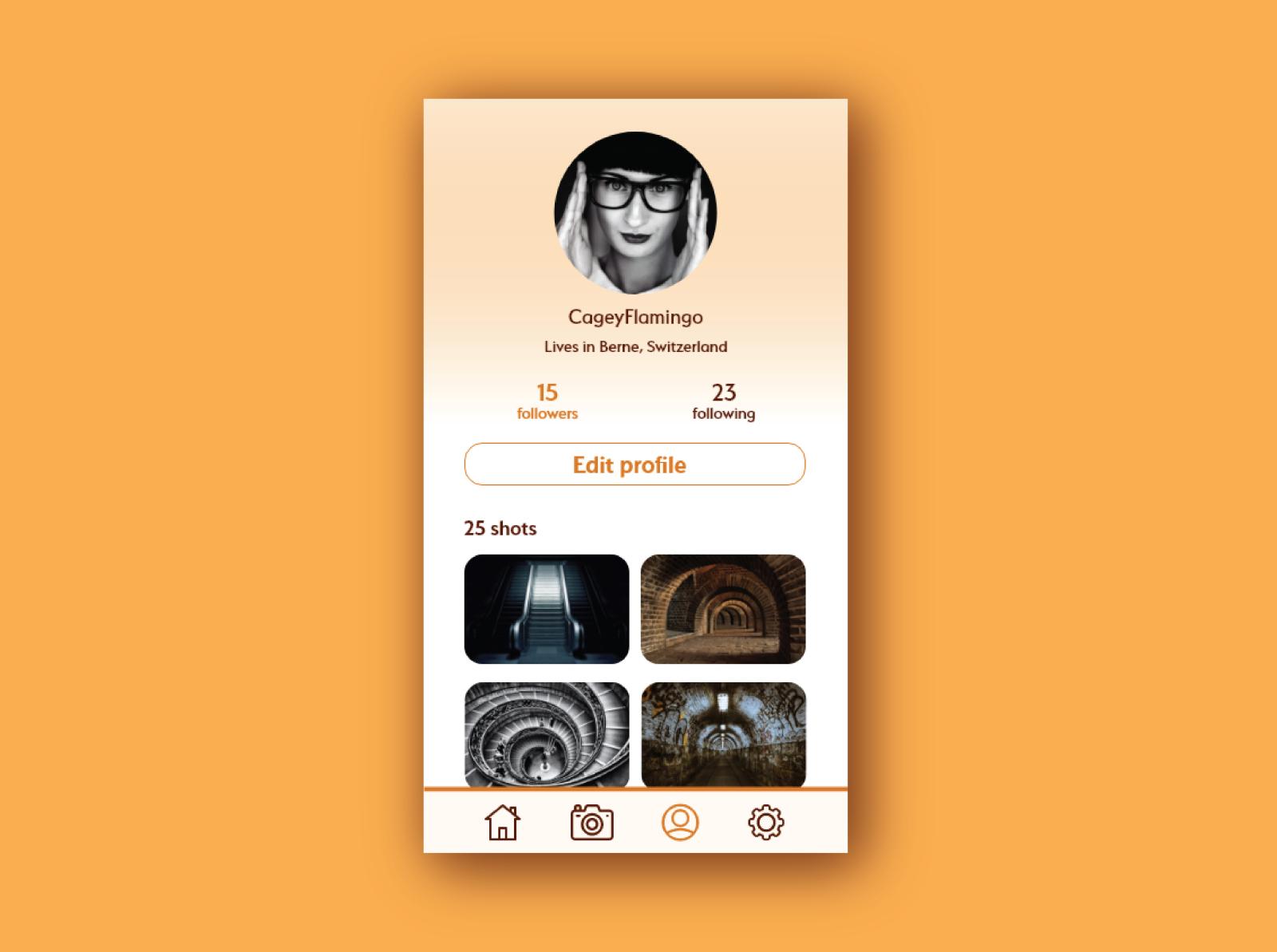 Design challenge - User profile