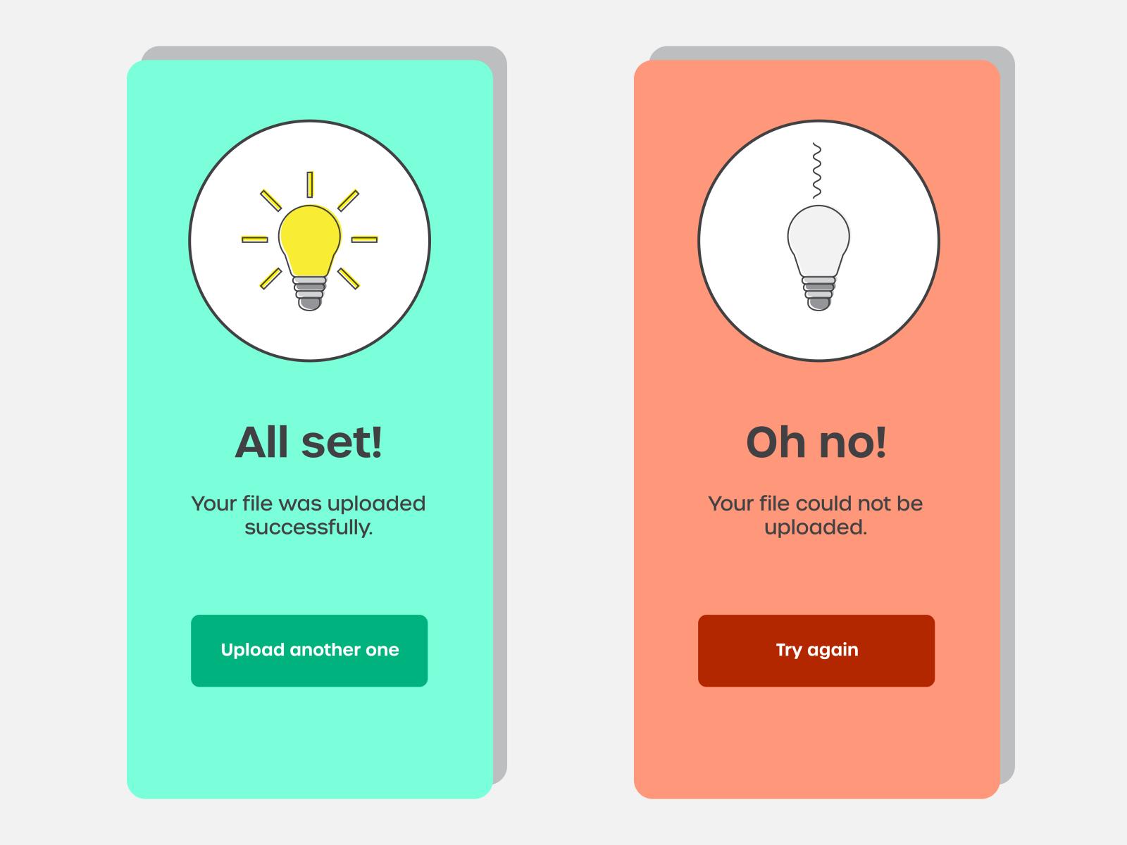 Design challenge - Alert messages