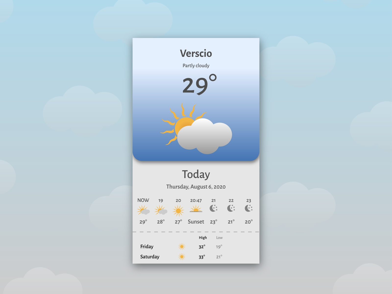 Design challenge - Weather app