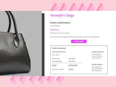 Design challenge - E-mail receipt receipt adobe xd design challenge
