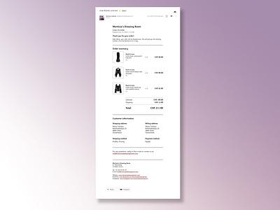 Daily UI Challenge #017 - E-mail receipt receipt e-mail daily ui dailyui ui