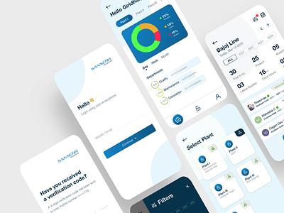 Sansera Attendance App synclovis uidesign mobileapp