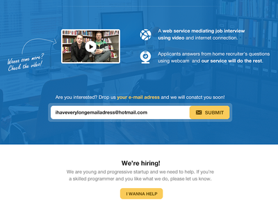 Quirect landing page v2 quirect web landing page video blue startup