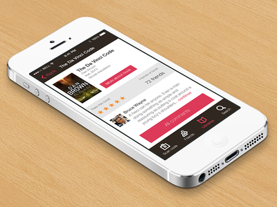 Books app app application ios ios7 book books brown white pink rating detail iphone