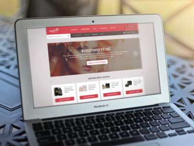 Eshop eshop perfume web webdesign red warm