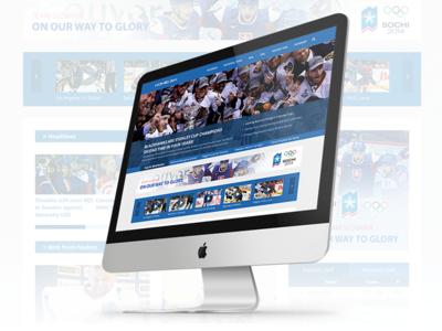 Hockey web redesign [Concept] web webdesign flat hockey portal redesign concept ui user interface