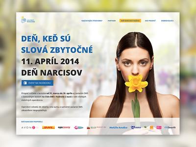 Event microsite microsite narcissus charity light clean light ui web webdesign