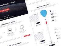 Space ballooning web