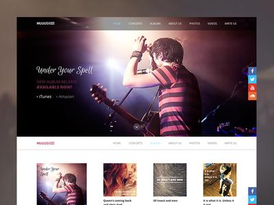 Music band web music band web ui photo wordpress template