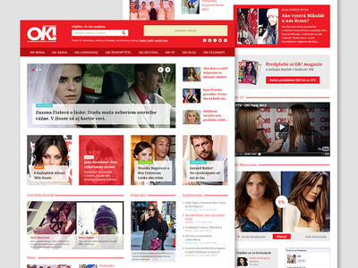 Web magazine concept web webdesign magazine red light tabloid