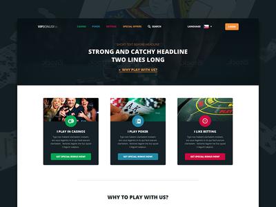 Online Casino Web Concept web webdesign dark casino game poker