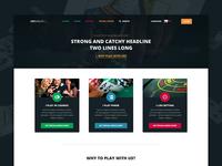 Online Casino Web Concept