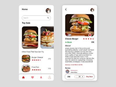 Food Order App Design