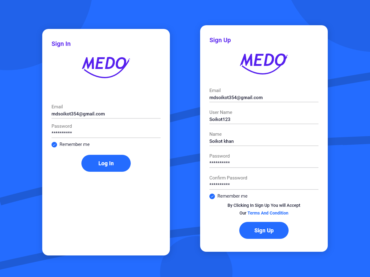 Login-Signup Page (Adobe Xd)