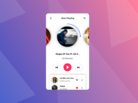 Music App Now Playing Screen (Adobe Xd)