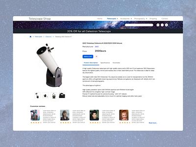 E-commerce Astro Shop shot astroshop e-commerce ecommerce shopping astronomy uiux design ui