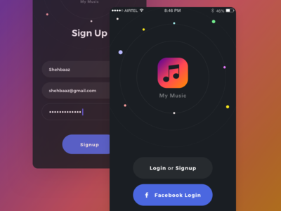 Signup design