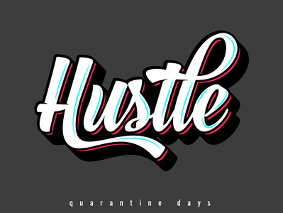 Hustle custom typography logodesign business logo illustrator clean identity branding retro typography retro logo poster design poster a day posters typography design typography logo typography art typography