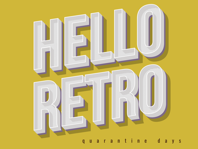 HELLO RETRO ! business logo vector design illustrator logo logodesign clean identity typogaphy retro design retro branding