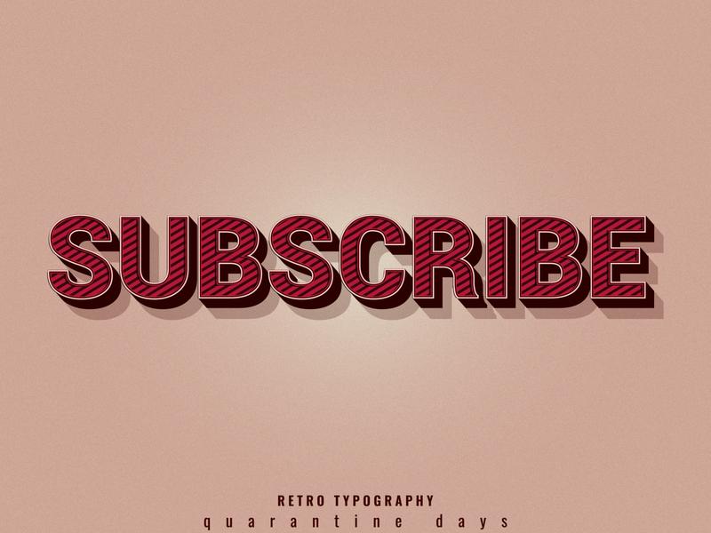 SUBSCRIBE ! business logo vector illustration branding ui webdesign retro logo retro design poster art poster design tshirt design tshirtdesign typography logo typography design typography art typography