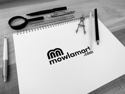 mowlamart.com' a Pabna (Bangladesh) based e-coomerce site. The c flat minimal business logo design clean identity branding and identity branding agency branding design branding logo design logodesign logotype logo