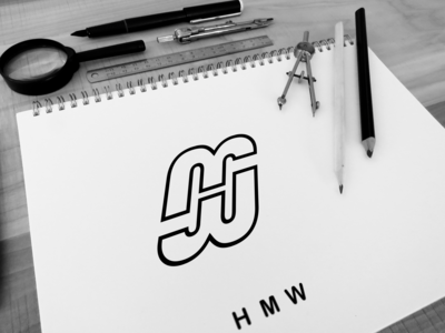 H M W  letter-mark logo