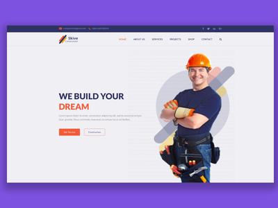 Builder PSD mockup