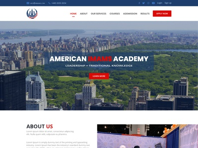 American Imams Website Template design.