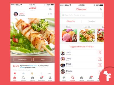 Recipe sharing social app by peerbits dribbble recipe sharing social app forumfinder Image collections