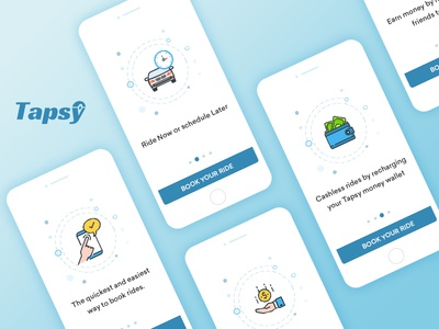 Taxi Booking App - Walkthrough taxi booking app ui transportation taxi dispatch system taxi booking software solutions illustration booking introduction walkthrough