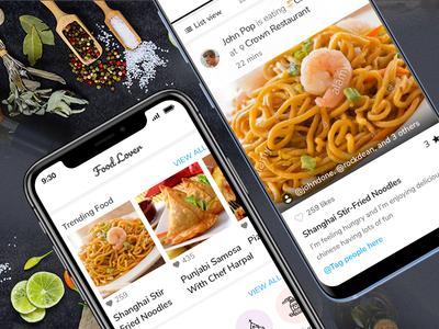 Food Lover App food and drink food app feed uidesign recipe app ios app mobile app design social app
