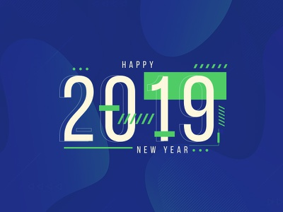 Happy New Year 2019 end of year banner ad new year 2019 purple template design happy new year