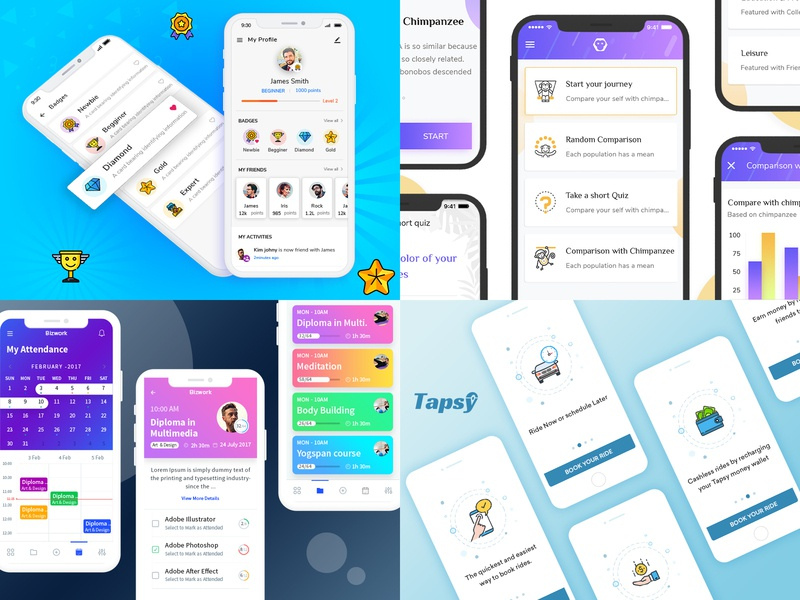 Have a look at our Top4Shots from 2018 top10 creative  design top 4 taxi app desiginspiration design agency 2018 trends rewards gamification design
