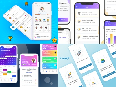 Have a look at our Top4Shots from 2018 top 10 creative  design top 4 taxi app desiginspiration design agency 2018 trends rewards gamification design
