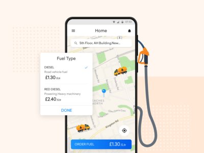 On Demand Fuel Delivery App ios app design android app design gas pump ui  ux design delivery app fuel gas station on demand oil and gas