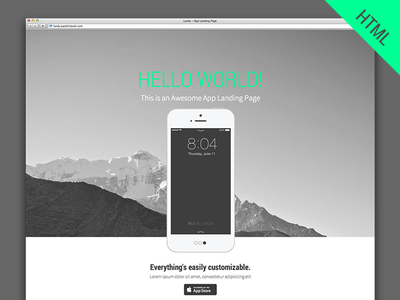 Landy - HTML Template app landing page template html css3 flat mobile responsive design iphone