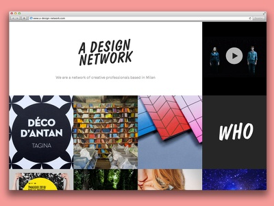 Adn Website website design network fullscreen responsive html5