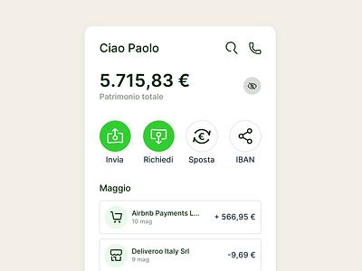 Bank App Redesign redesign balance bank banking branding logo design iphone mobile app ux ui
