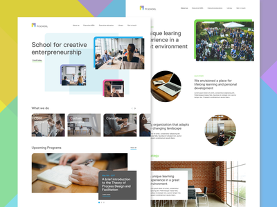 Pi School colors entrepreneurship creative website