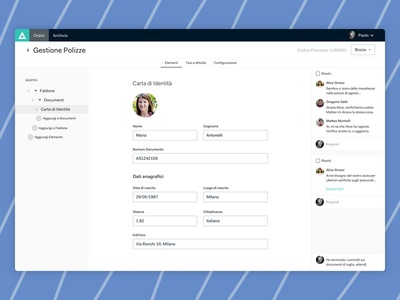 Datlas — Document Management design system ui ux sidebar navigation comment edit dashboard