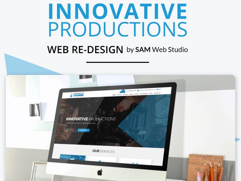 Logo Design + Website Design For Innovative Production website development uidesign website concept website ui  ux uiux web development website design and development webdesign website design ui design