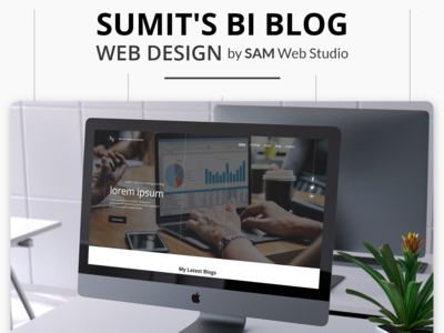 Website Design + Website Development For Sumit's Blog