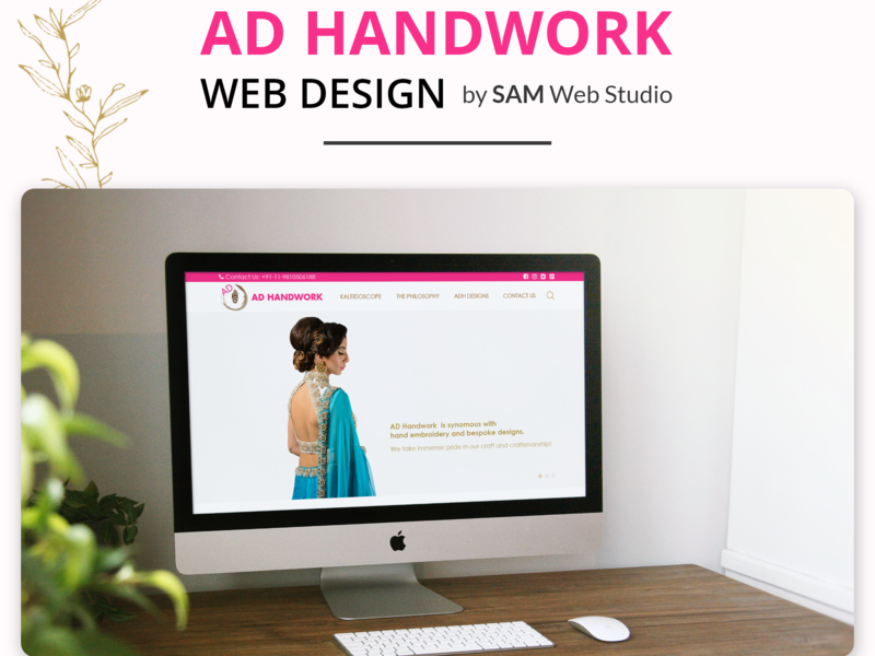 Website Design + Web Development For Ad HandWork web design ideas illustration design branding website development website design and development website design website concept website webdesign web development